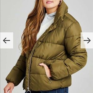 NWT olive puffer coat size small